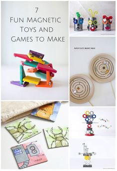 Fun magnetic toys and games to make for the kids!