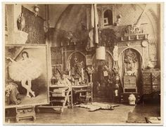 Georges Clairin in his studio, ca. 1885
