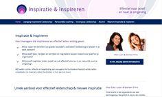 Inspiratie & Inspireren - een nieuwe website voor de promotie van de management leergang