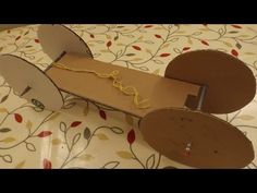 ▶ A simple Rubber Band Powered Car - Cardboard, 2 pencils, 5 paperclips - YouTube