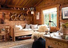 Redecorating Øyangstølen - After Norwegian House, Luxury Cottage, Cabin Interiors, Furniture, Home, Interior, Wood Panel Walls, House With Porch, Home Decor