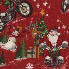 Alex Henry RPM Santa Rides a Motorcycle Ruby