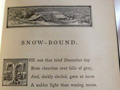 First Edition Snow Bound John Greenleaf Whittier by AntiquesduJour, $59.00