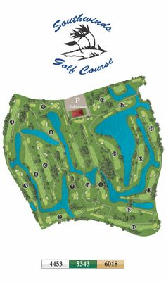 Golf course yardage book illustrations for Southwinds Golf Course by Bench Craft Company  http://benchcraftcompany.com/products/course-guides/