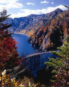 Jozankei Hoheikyo Dam in Sapporo, Hokkaido Japan City Scene, Sapporo, Travelling, Sunrise, Beautiful Places, Scenery, Around The Worlds, Japan, River