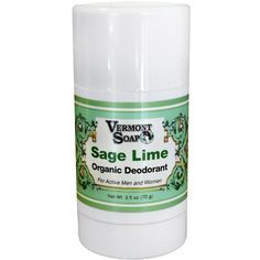 Vermont Soap Sage Lime Organic Deodorant~Net Wt. ~For Active Men & Women New larger size. Sage Lime Organic Deodorant Stick, one of the first underarm protection products to meet USDA organic food standards. | eBay!