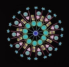 microscopic planktonic algae diatomes form 11-fold geometric mandala
