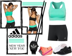 """New Year New You- Adidas"" by kristinlj2010 on Polyvore"
