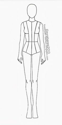 LOVEtHEART - Fashion Illustration: Fashion Template. This is amazing!! Thank you!!