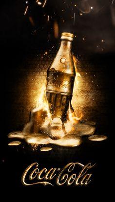 Coca Cola ads by Dmitry Gelishvili, via Behance