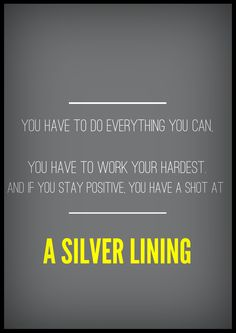 Silver Linings Playbook giving me some inspiration this week