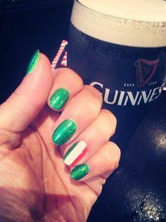 St Patricks Day nail art by Nita