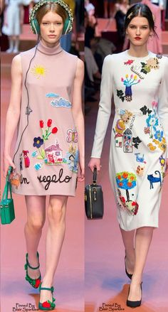 """""""WE LOVE EMBROIDERY"""" was the original caption, but I guess this can also slide for a patch! DIY patch dress project anyone?"""