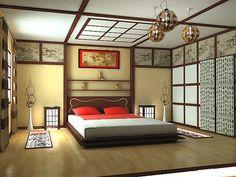 Elegant Кровать. Японский стиль
