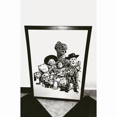 Toy Story picture - Woody and his friends by Lavinkworld on Etsy