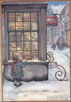 Anton Pieck - Window Shopping