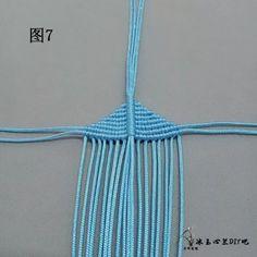 点击查看原图 Tassel Necklace, Crochet Necklace, Macrame Jewelry Tutorial, Free Macrame Patterns, Bracelet Patterns, Crochet Bikini, Knots, Tassels, Butterfly