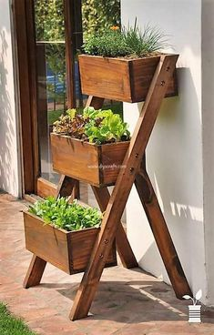 Ladder Box Herb Garden Ladder Box Herb Garden Source by lolasinn This information, from Garden Ladder, Porch Garden, Rain Garden, Small Space Gardening, Garden Boxes, Garden Stand, Garden Projects, Diy Projects, Backyard Projects