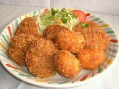 Koroke [koloké] - Recette de cuisine Marmiton : une recette Tapas, Snack, Cauliflower, Food And Drink, Meat, Chicken, Dinner, Vegetables, Cooking