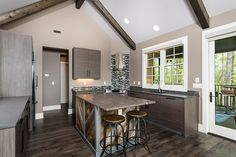 Modern and sleek kitchen from The Laurelwood #5024.