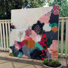 Diy Painting, Painting & Drawing, Painting Inspiration, Diy Art, Watercolor Art, Art Projects, Abstract Art, Abstract Landscape, Illustration Art