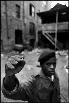 USA. Illinois. Chicago. 1969. A Black Panther Party member.    By Hiroji Kubota