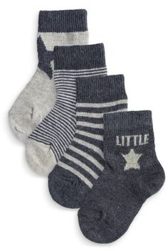 Buy Five Pack Navy And Grey Little Star Socks (0-18mths) from the Next UK online shop