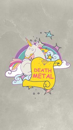 death metal unicorn by kaespo