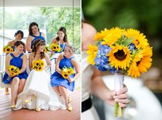 Sunflower theme This is pretty much what I want but not that bright blue.. LOVE SUNFLOWERS