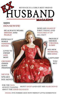 Ex-Husband Magazine: Housewife by redbankmick on DeviantArt Feminized Husband, Captions Feminization, Female Dancers, Sissy Maid, Hippie Chick, Transgender Girls, Ex Husbands, 1950s Fashion, Girls Best Friend