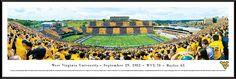 West Virginia Mountaineers Stripe the Stadium Panoramic - Standard Frame