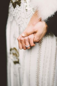 ring shot idea (hands) - Seattle Wedding with Vintage Glam Flair by Laura Gram of Simplicity Events LLC (Wedding Coordinator) + Kim Smith (Photography) Miller - via rufflfed