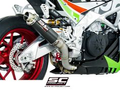 A16-65C GP65 Exhaust by SC-Project Aprilia / Tuono V4 1100 RR / 2017 SC-Project is a race tested and race proven Italian exhaust manufacturer. SC-Project uses their MotoGP, Moto3, Moto2 and Superbike racing experience to push the limits and develop the highest level of exhaust performance. SC-Project exhausts are hand made right along side the same exhausts you see on MotoGP bikes and at race tracks around the world. SC-Project is committed to putting race quality performance, sound...