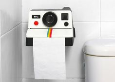 @Jeannie Equinox needs this -- Gift Ideas ~ Polaroid Toilet Paper dispenser - instant relief