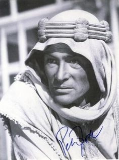 RIP Peter O'Toole.  B. 8-2-32 D. 12-14-13  Peter Seamus Lorcan O'Toole, Esq is an English/Irish actor of stage and screen. O'Toole achieved stardom in 1962 playing T. E. Lawrence in Lawrence of Arabia and then went on to become a highly-honoured film and stage actor.