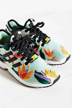 ad7a89433ecac Shop adidas Originals ZX Flux Tropical Running Sneaker at Urban Outfitters  today.