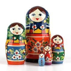 Colorful Russian Nesting Doll
