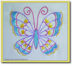 9 Creative Embroidery Projects for Beginners: Stem Stitch Butterfly