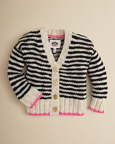 Juicy Couture Girls' Chunky Stripe Cardigan - Sizes 2-5 | Bloomingdale's