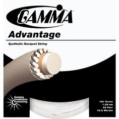 GAMMA Advantage features an extra durable synthetic string for hard hitters looking for longer string life.