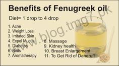Fenugreek oil benefits