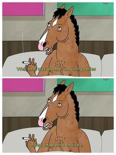Bojack: Well, that was another in a long series of regrettable life choices. (BoJack Horseman)