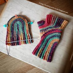Knitting and so on: U-Turn Mitts in Crochet?