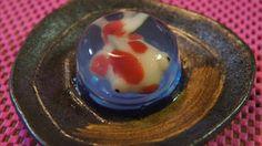 金魚鉢 の 和菓子 - Wagashi Poissons Rouges - Goldfish Wagashi