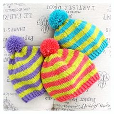 Lime & Berry with FREE pattern - make a little hat in a yummy color combinations! It is a fun and easy project, that would take only a few hours to make.