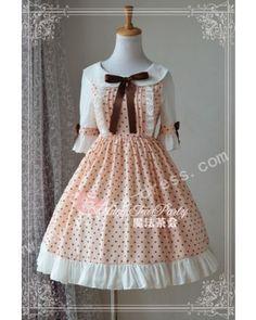 Summer Sweet Dots Round Collar Lolita OP Dress #Lolitadress  #Summer   #OP
