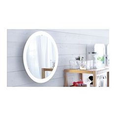 STORJORM Mirror with integrated lighting | perfect for a diy makeup vanity
