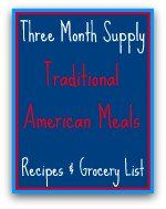 Meals Ready to Eat Traditiona American Recipes & Grocery List