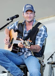Blake Shelton..a lot of good happens when you cut your mullet!!