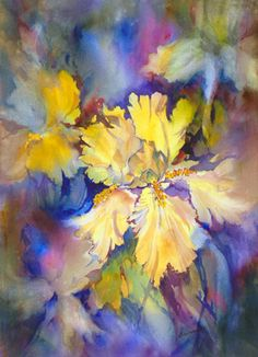 "Watercolor painting titled ""Sunny"" by Carol Baumrucker . . . http://carolbaumrucker.com/watercolor-gallery.html"